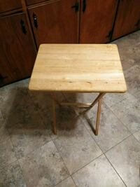 rectangular brown wooden folding table Bowie