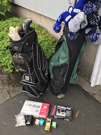 Golf clubs, bags, balls, putting pal. All together for $30