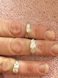 Sterling silver n white topaz rings $23 each Elk Grove, 95624
