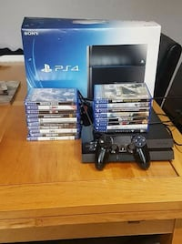 Sony PS4 console with controller and game cases Greater Manchester, M7 4FB