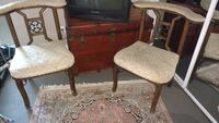 Two Antique wood chairs with padded seats Los Angeles, 90048