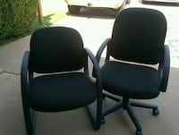 two black leather rolling armchairs Phoenix, 85008