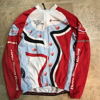 white and red button-up jacket 43 km