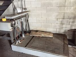 Antique industrial weighing scale