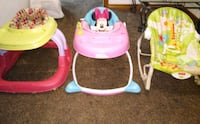 Baby walkers and bouncer $10 each