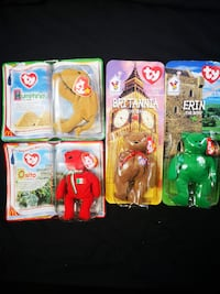 Rare Still sealed Beanie Babies Plush lot of 4 Yonkers
