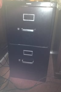 black metal 2-drawer filing cabinet Upper Marlboro, 20774