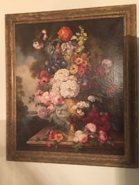 Antique signed floral oil painting Toronto, M2R 3N1
