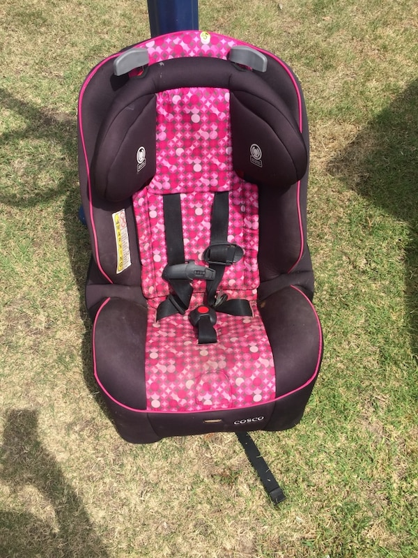Used Baby S Maroon And Pink Cosco Car Seat For Sale In Ardmore Letgo