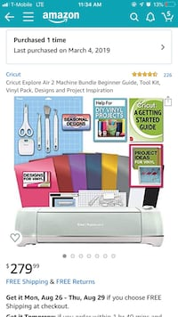 Cricut explore air 2 bundle brand new in box  Conroe, 77301