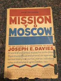 1941 mission to Moscow by Joseph e. Davies great collectors book Yorba Linda, 92886
