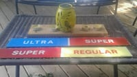 Old gas pump signs