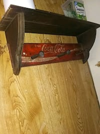cocacola wooden coat hanger