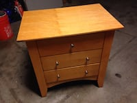 Light Wood Small Chest of Drawers