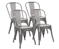 Café Chair Saracina Home-Set of 4 Stackable Seat Side Chairs-$160.00 MANCHESTER