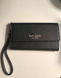 Kate Spade Wristlet Wallet Clutch Cell Phone Case Black Washington, 20003