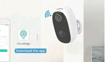 Rechargeable Wi-Fi Security Camera, Motion, 2-Way Audio NEW ½ PRICE