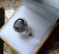 ☆ MYSTIC TOPAZ .925 Sterling Silver Ring ( 7 )  Montreal