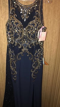 Peaches navy dress size 16 price negotiable  Lynwood, 60411