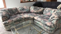 gray and white floral sectional sofa Crystal Lake, 60014