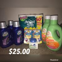 three Gain and Tide detergent bottles Houston, 77070