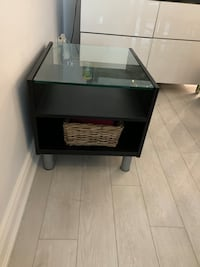 Side Coffee Table with Glass Top