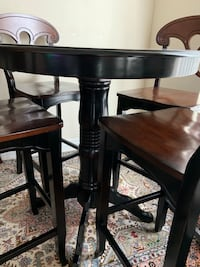 Bar high dining table and 4 chairs