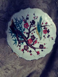 white, green, and red floral ceramic plate Sacramento, 95828