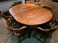 Solid maple wooden table with six chairs Washington, 20003