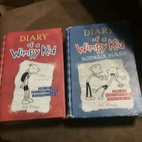 two DIary of a Whimpy kid books