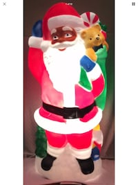 "Rare vintage TPI African American Santa lighted blow-mold 40"" Randallstown, 21133"
