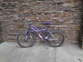 MOVING! purple hardtail mountain bike