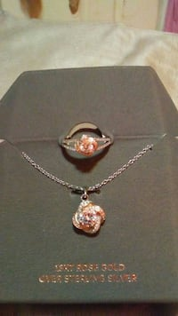 18k rose gold necklace and ring sz8 Boonville, 47601