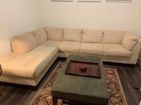 Sectional sofas and ottoman, great condition!