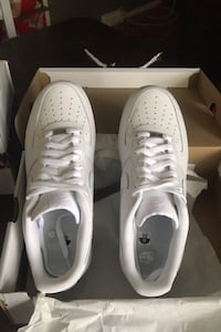 White air force 1 size 11 mens I never wore them. with box
