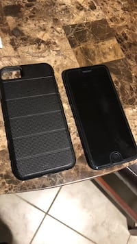 Black iphone 7 with rear case