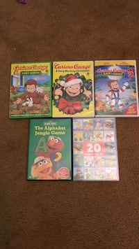 toddler's five assorted animated DVD