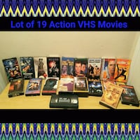 LOT OF 19 ASSORTED VHS Ontario, 91762