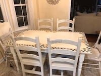 Hand-Painted Table and Chairs Set, Rabbit Theme Ashburn, 20147