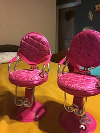 two pink and black floral padded chairs Bellwood, 60104