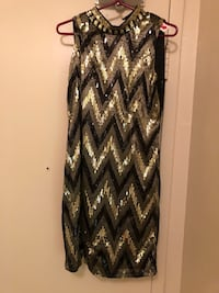 women's black and white chevron sleeveless dress Mississauga, L4Y 4E2