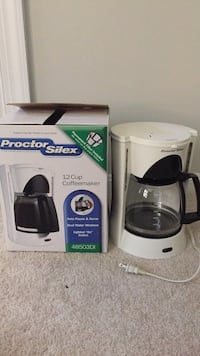 White and black proctor silex coffee maker with box Montgomery Village, 20886