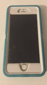 White iPhone 6s 64gb with otter box
