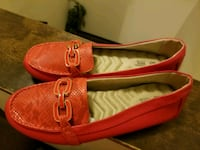pair of red leather boat shoes Worth, 60482