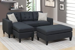 New Sectional. Black. Delivery and Assembly included !