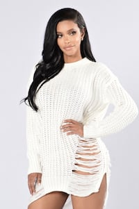 Fashion Nova white sweater (large) Toronto, M1P 5C4