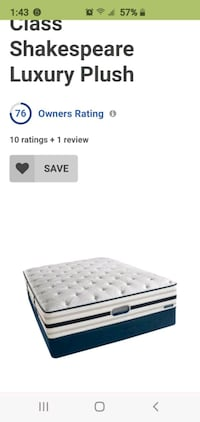 King matress and platform bed