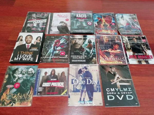 44 adet film dvd cd 1