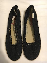 pair of black knit flats Boischatel, G0A