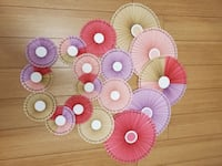 Circle paper fans(party and room decoration) Mississauga, L5R 3C1